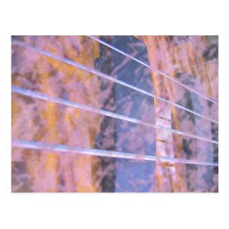 Bass guitar strings pickups grunge tiger eye postcard