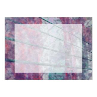 Bass guitar strings pickups pink grunge tiger eye 5x7 paper invitation card