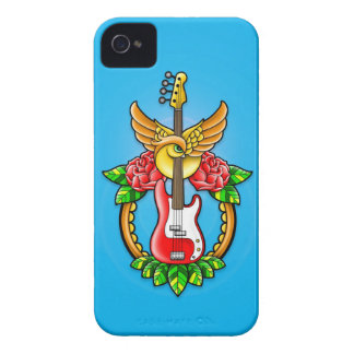 Bass Guitar Tattoo iPhone 4 Cover
