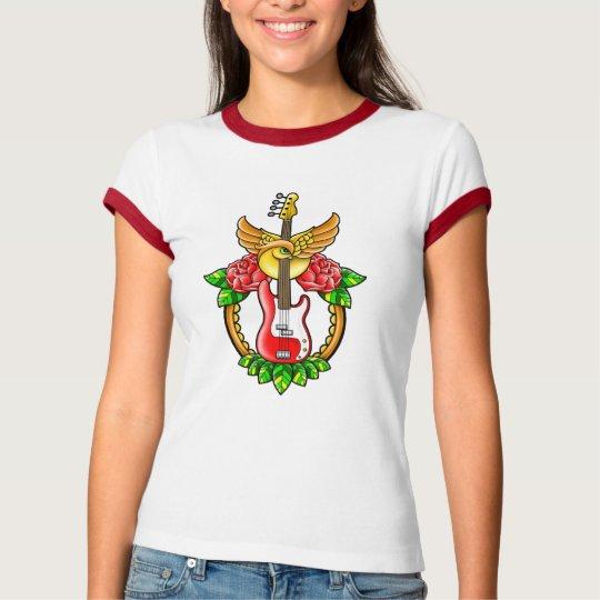 Bass Guitar Tattoo T-Shirt