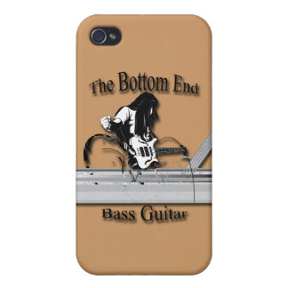 Bass Guitar the Bottom End black iPhone 4/4S Cases