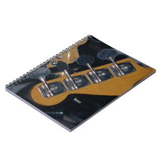 bass guitar tuning pegs notebook