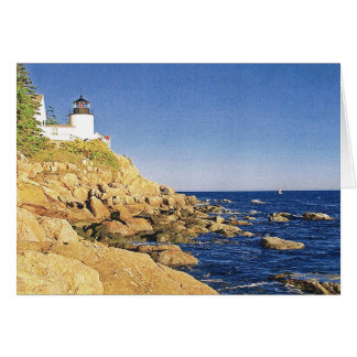 BASS HARBOR, HEAD LIGHT  MAINE CARD