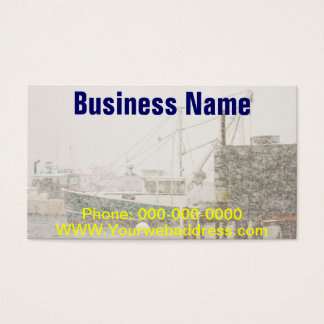 Bass Harbor in Heavy Snowstorm, Coast of Maine Business Card