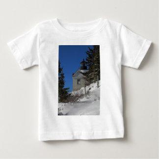 Bass Harbor Light in Winter Baby T-Shirt
