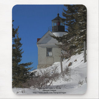 Bass Harbor Light in Winter Mouse Pad