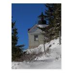 Bass Harbor Light in Winter Postcard