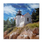 "Bass Harbor Lighthouse, Bass Harbor Maine Tile<br><div class=""desc"">This beautiful coaster is a local Maine artist&#39;s rendition of one of Maine&#39;s most photographed lighthouses. Bass Harbor Lighthouse in Bass Harbor,  Maine.  Please be sure to check out my store for similar items.</div>"