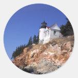 Bass Harbor Lighthouse Classic Round Sticker