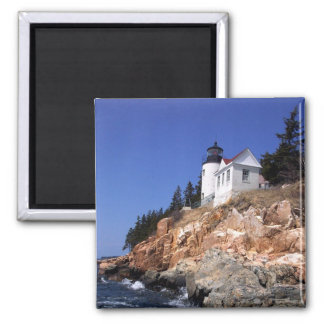 Bass Harbor Lighthouse 2 Inch Square Magnet