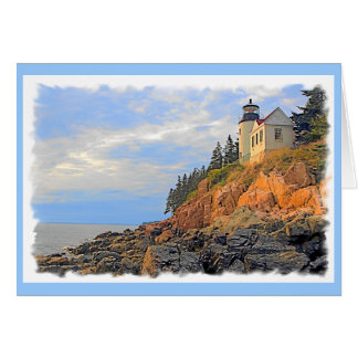 BASS HARBOR LIGHTHOUSE, MAINE CARD
