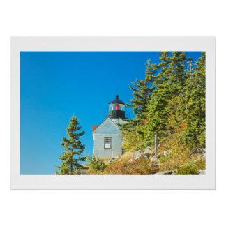 Bass Harbor Lighthouse  Mount Desert Island Maine Poster