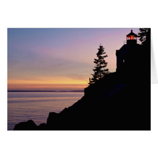 Bass Harbor lighthouse on Mt Desert Island Card