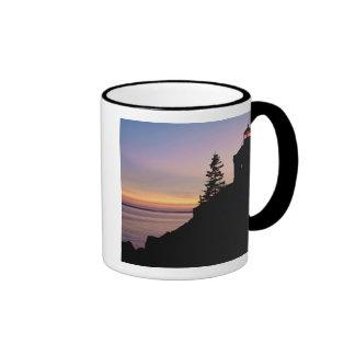 Bass Harbor lighthouse on Mt. Desert Island, Ringer Coffee Mug