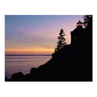 Bass Harbor lighthouse on Mt Desert Island Postcard