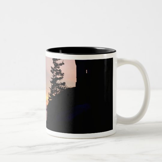 Bass Harbor lighthouse on Mt. Desert Island, Two-Tone Coffee Mug