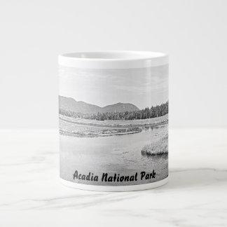 Bass Harbor Marsh Sketch Jumbo Mug