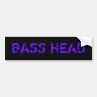 Bass Head bumper sticker(dark) Bumper Sticker