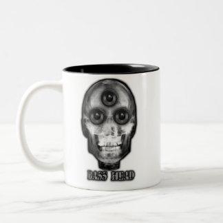 BASS HEAD Dubstep Artist Two-Tone Coffee Mug