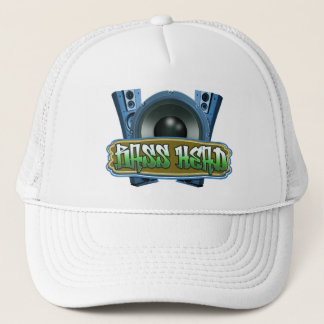 Bass Head Hip Hop Street Wear blue green Cap