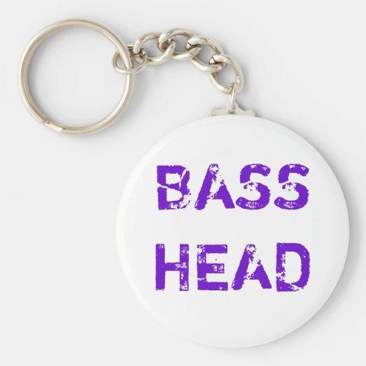 Bass Head keychain (purple text)