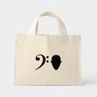 Bass Head Mini Tote Bag