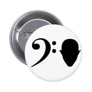 Bass Head Pinback Button