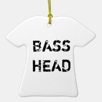 Bass Head t-shirt ornament