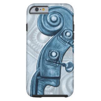 Bass Headstock Blue Scroll iPhone 6 Case