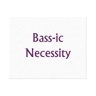 Bass-Ic necessity Purple text Bass Player Design Canvas Print