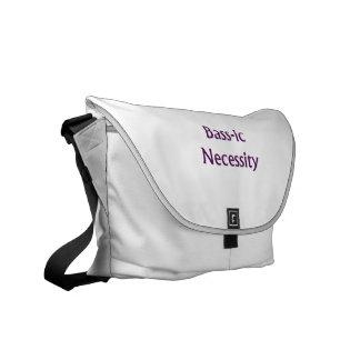 Bass-Ic necessity Purple text Bass Player Design Messenger Bag