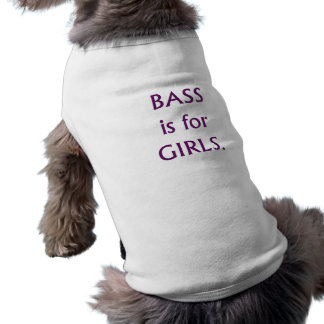 Bass is for girls purple text shirt