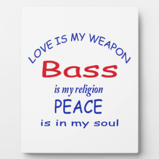 bass is my religion photo plaques