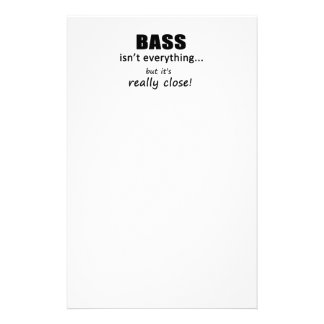 Bass Isn't Everything Stationery Paper