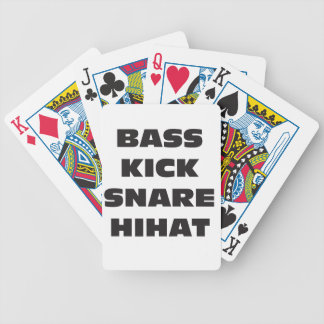 Bass Kick Snare HiHat Bicycle Playing Cards