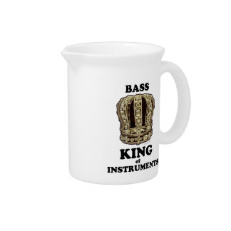 Bass King of Instruments Beverage Pitcher
