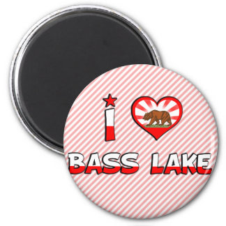Bass Lake, CA 2 Inch Round Magnet