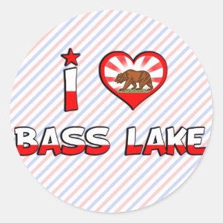 Bass Lake, CA Classic Round Sticker