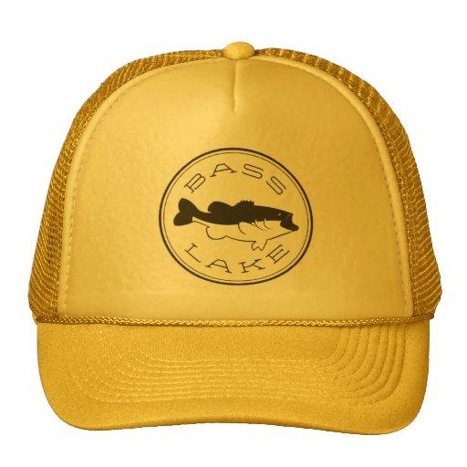 bass lake trucker hat