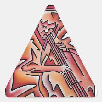 Bass Lines Triangle Sticker