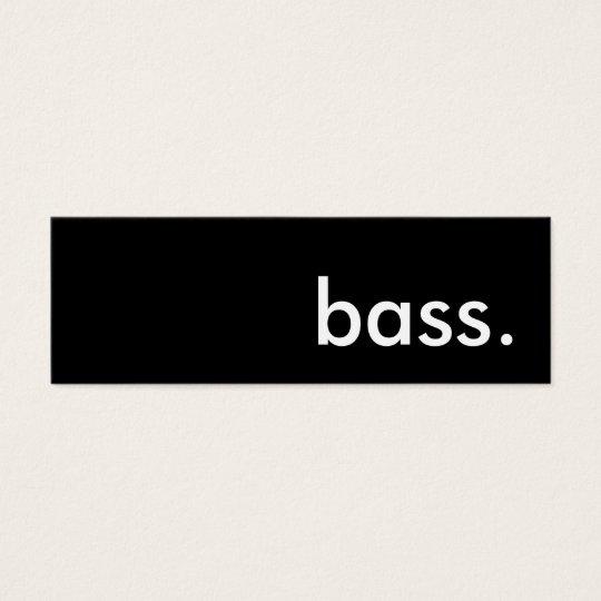 bass. mini business card
