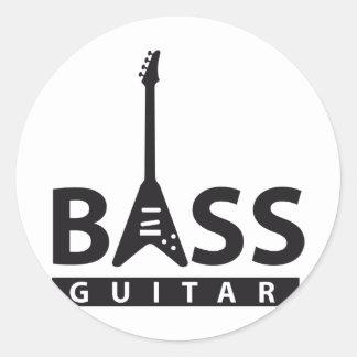 bass more player classic round sticker