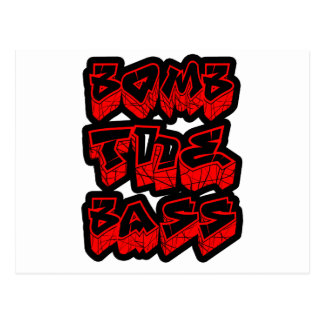 Bass Music DnB Electro Hip-Hop Dub Dubstep Postcard
