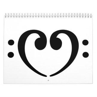 Bass Note heart Calendar