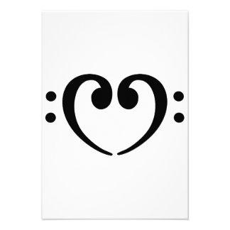 Bass Note heart Personalized Invitation