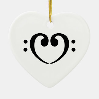 Bass Note heart Christmas Tree Ornaments