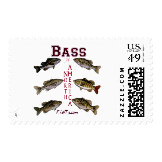 Bass of N.America Postage Stamps