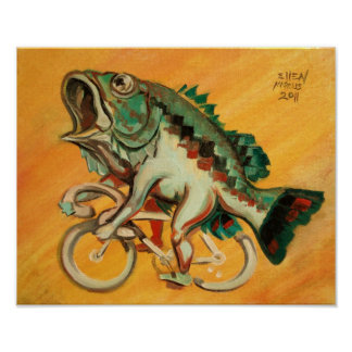 Bass On A Bicycle Poster