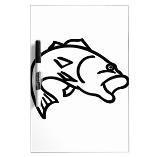 Bass Outline Dry-Erase Board