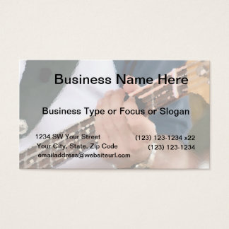 bass painterly player hand on neck male photograph business card